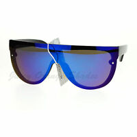 Rimless Flat Top Oversized Sunglasses Mirror Lens Couture Fashion