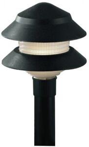 Portfolio 4-Watt Black Low Voltage Incandescent Path Light