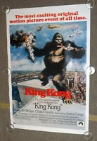 """KING KONG (1976) Movie Poster 27"""" x41"""" Rolled Rerelease NOS Paramount ©1991"""