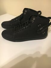 Buscemi - buckled hi-top sneakers - men - Leather/rubber - 45 Black