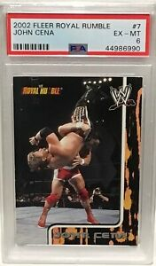 2002 Fleer Royal Rumble JOHN CENA Rookie Card PSA 6 His Only Rookie Card Made