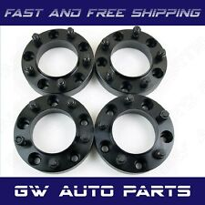 "4 Black 1.25"" HUB CENTRIC WHEEL SPACER 5X115 CB 71.5mm 14x15 FIT DODGE CHRYSLER"