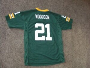 Green Bay Packers CHARLES WOODSON Football Jersey youth Large