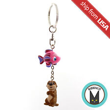 Japan Tokyo Disney Sea Nemo & Friends SeaRider Otter Cute Keychain Charm Rare