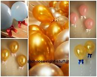 100 Pearlised Balloons & Balloon Curling Ribbons For Anniversaries Engagement