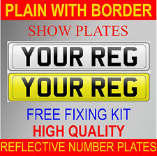 HIGH QUALITY REG NUMBER PLATES SHOW PLATES FRONT & REAR PAIR CAR VAN TOWING