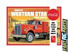 AMT 1/25 White Western Star Coca-Cola Semi Tractor Truck Model Kit AMT1160