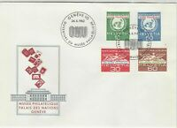 Switzerland 1962 UN Museum Palace of Nations ONU Slogan FDC Stamps Cover 25421