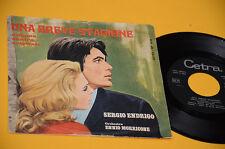 """SERGIO ENDRIGO 7"""" 45 UNA BREVE STAGIONE 1°ST ORIG 1969"""