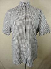 Karierte Hüftlang Damenblusen,-Tops & -Shirts mit Button Down-Kragen und Baumwolle