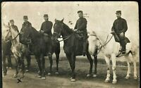 WW1 CAVALRY SOLDIERS WARHORSES MILITARY ANTIQUE PC PHOTO RPPC POSTCARD
