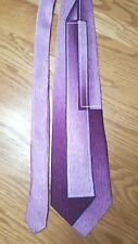 Irvine Park Purple Violet Geometric Abstract Wide Tie Silk Blend Retro Vtg 4x59""