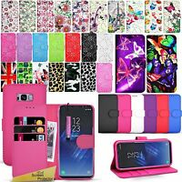 For Samsung Galaxy S8+ Plus - Wallet Leather Case Flip Cover + Screen Protector