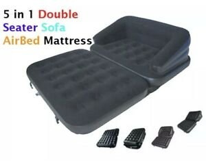 Benross 5 in 1 Inflatable Double Flocked Sofa Couch Bed Mattress Lounger Airbed