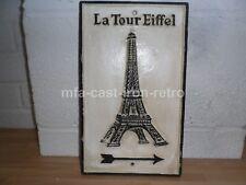 Cast Iron La Tour Eiffel Tower Plaque