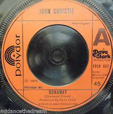 "JOHN CHRISTIE - Runaway - 7"" Single"