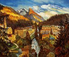 Bad Gastein historisch, Ölbild, Ölgemälde, HANDGEMALT