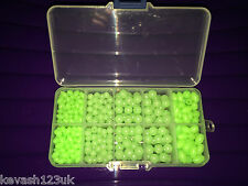 500 Assorted Luminous Rig Beads in a Free fully loaded Tackle Box.