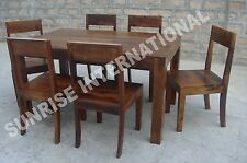 Trendy Wooden Dining table with 6 chair set !