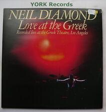 NEIL DIAMOND - Love At The Greek - Excellent Con Double LP Record CBS 95001