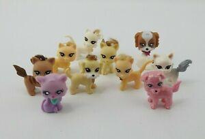 Littlest Pet Shop Lot Mini Cat Dog Real Hair