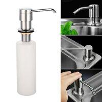 300ML Kitchen Sink Soap Dispenser Polish Stainless Steel Hand Liquid Pump Bottle