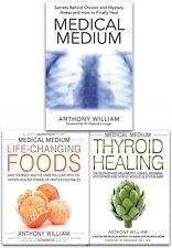 Anthony William Medical Medium 3 Books Collection Set Chronic Illness Healing