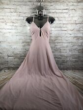 Revolve House of Harlow womens M adjustable lace up nude halter dress long maxi
