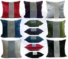 """Large Diamante Middle Lace Crush Velvet Cushions or Covers,17""""x17"""" and 21""""x21"""""""