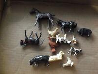 Lot of Vintage Plastic Barnyard Animal Figurines Some Plasticville