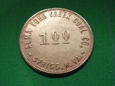 WV Coal Scrip Token $1.00 Alma Pond Creek Coal Company-Sprigg-WV-Mingo County