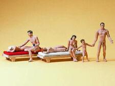 Preiser 10439 Paare am FKK Strand 6 Figuren Nackte Nudisten H0 Neu