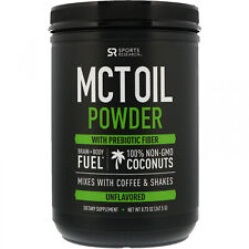 Sports Research, MCT Oil Powder With Prebiotic Fiber, Unflavored, 8.73 Oz G)