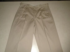 Eddie Bauer Outdoor Clothing Mens Pleated Rugged Khaki Casual Pants Rare Size 35