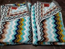 Missoni for Target Bath Towel Zig Zag Chevron (Lot of 2) New