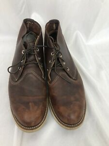 RED WING Shoes Mens size 12 brown leather work shoe
