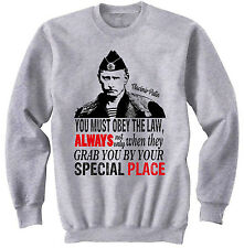 PUTIN YOU MUST OBEY THE LAW - NEW COTTON GREY SWEATSHIRT- ALL SIZES
