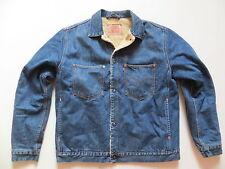 Levi's Biker Jacke Teddy Fell Jeansjacke Gr. XL, Vintage Denim, warm gefüttert !