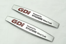 2Pcs GDI Wind Craft Metal Auto Front Side Fender Silvery Sticker Badge Emblems