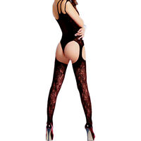 Fishnet Sleepwear Women's Body Babydoll Thigh Stockings New Lingerie High Dress