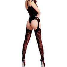 New Women's Lingerie Fishnet Body Stockings Dress Thigh High Babydoll Sleepwear