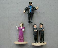 Figurines de tintin en résine : les Dupond, la Castafiore, le capitaine Haddock