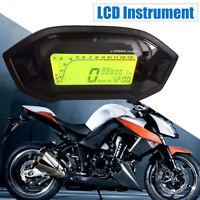 Motorcycle Universal LCD Digital Speedometer Tachometer Odometer Speedo Meter