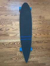 Black Cruiser Pintail Longboard Skateboard Complete 9 in X 43 in Moose