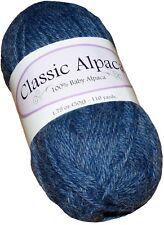 Classic Alpaca 100% Baby Alpaca Yarn #1603 Cowboy Blue 50g/110 yds DK Peruvian