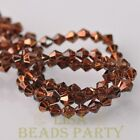 New Arrival 200pcs 3mm Faceted Bicone Loose Spacer Glass Beads Deep Coffee