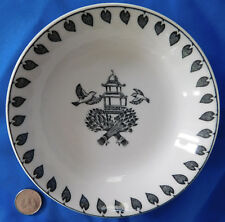Black and white pin dish bowl Highgrove House Prince of Wales feathers pagoda
