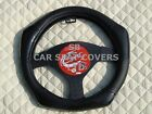 i - SUITABLE FOR A SUZUKI LIANA, STEERING WHEEL COVER, CARBON FIBER LOOK R1 BK