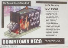 Downtown Deco HO #1063 The Boobie Hatch Strip Club (Plaster Building Kit)