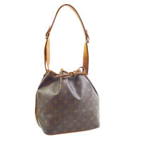 LOUIS VUITTON PETIT NOE SHOULDER BAG PURSE MONOGRAM CANVAS MI881 M42226 30112